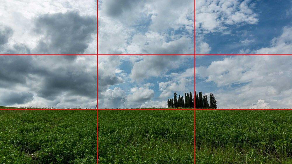 Règle des tiers - Composition en photographie
